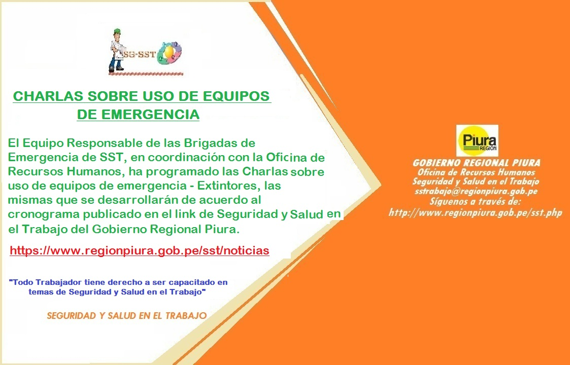 EQUIPO RESPONSABLE DE BRIGADAS DE EMERGENCIA - ERBE PROGRAMA CHARLAS SOBRE USO DE EQUIPOS DE EMERGENCIA