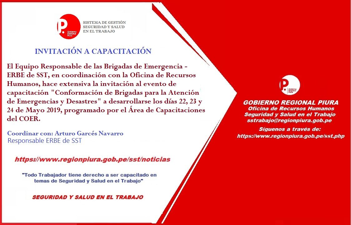 INVITACIÓN A EVENTO DE CAPACITACIÓN