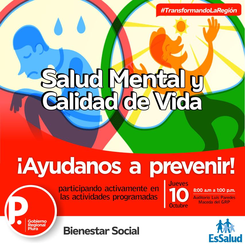 """ACTIVIDAD: """"Salud Mental y Calidad de Vida"""""""